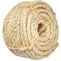 X 1220 ft Twisted Sisal Rope T.W 22-430 3//8 in Evans Cordage Co