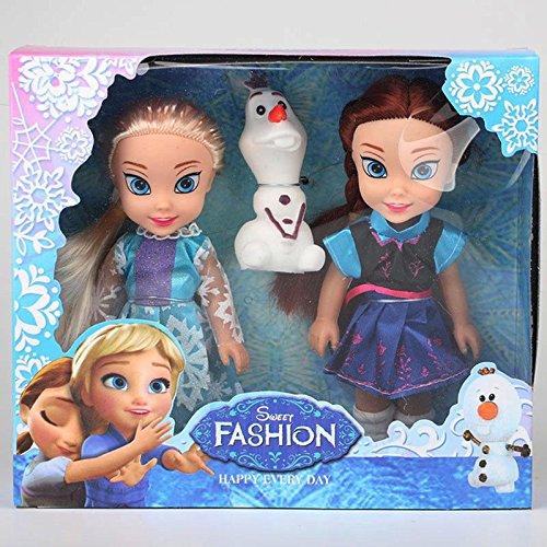 Pi² Princess Anna and Princess Elsa Frozen Dolls Toys Princess Anna Elsa Dolls 16cm