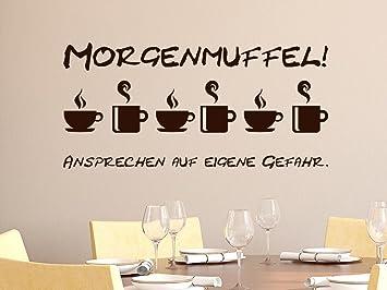 Wandtattoo Wanddeko für Küche Spruch Morgenmuffel Ansprechen auf ...