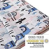 Baby Pucktuch 2er Set - Swaddle Blanket aus 100% zertifizierter Baumwolle -...