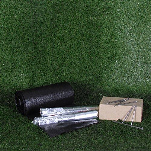 Pose Gazon Synthétique De Jardin Kit: Colle 1,2kg + Banda 10m linéaires + 5kg Nails + 1Lt bactéricide +1 Cutter