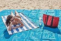 Telo Tappeto Coperta Mare Antisabbia L'Asciugamano Da Spiaggia Che Non Si Insabbia 200x200cm Il materiale di questa coperta da spiaggia è completamente resistente e impermeabile, un compagno perfetto per attività all'aria aperta! È una copert...