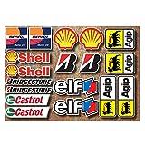 18 PVC Aufkleber Set Motorsport Rennsport Motorrad Auto Racing Laminiert Sticker MOTO GP Sponsors