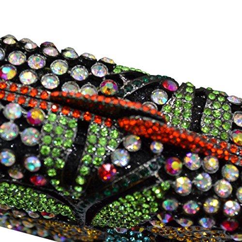 Borsa Di Lusso Del Diamante Di Sera Sacchetto Della Maniglia Del Sacchetto Della Signora Del Modello Di Fiore Borsa A Mano Del Vestito Da Banchetto Black
