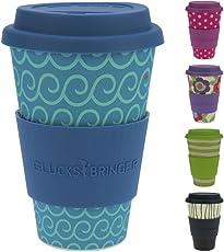 ebos Glücksbringer Coffee-to-Go-Becher aus Bambus   Kaffe-Becher, Trink-Becher   ökologisch abbaubar, recyclebar, umweltfreundlich   lebensmittelecht, spülmaschinengeeignet