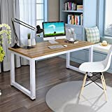 "UEnjoy Computer Desk, 47"" Modern Simple Office Desk Computer Table Study Writing Desk for Home Office, Light Walnut"