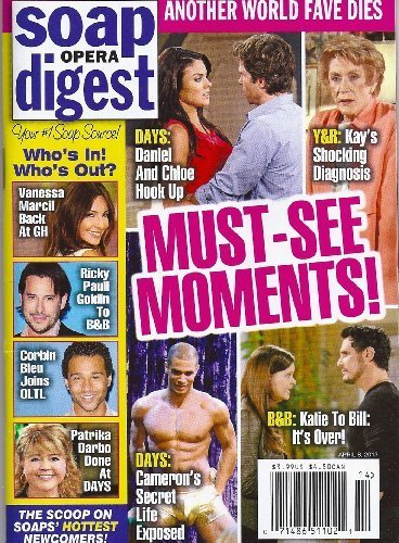 Days of Our Lives' Nathan Owens, Nadia Bjorlin, Shawn Christian, Patrika Darbo, Vanessa Marcil - April 8, 2013 Soap Opera Digest Magazine by Soap Opera Digest (SOD)