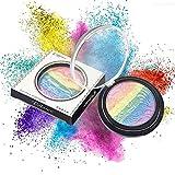 NEEDOON Make Up Naturkosmetik Gesicht Puder Compact Powder Rainbow Highlighter Foundation Makeup Kit