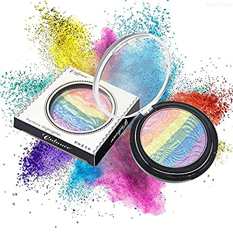 Make Up Naturkosmetik Gesicht Puder Compact Powder Rainbow Highlighter Foundation Makeup Kit