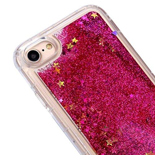 Cover per iPhone 7, Tpulling Custodia per iPhone 7 Case Cover Quicksand Cassa di lusso ultra-sottile cromata per iPhone 7 4.7 pollici (Red) Purple