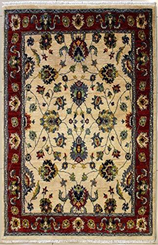 Rugstc 124 x 185 tappeto chobi ziegler realizzato con tinture vegetali con pila in lana - fantasia zeigler chobi   100% originale annodato a mano in bianco, rosso & grigio   tappeto rettangolare 122 x 183 di alta qualità a doppio nodo