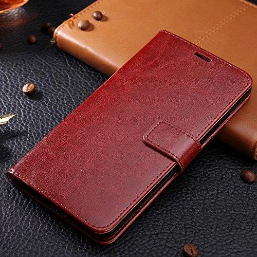 EKINHUI Case Cover Huawei Honor 8 Fall feste Folio magnetische Design Flip Brieftasche Stil Fall Farbmuster PU-Leder-Abdeckung Standup-Abdeckungsfall für Huawei Honor 8 ( Color : Brown , Size : Huawei Brown