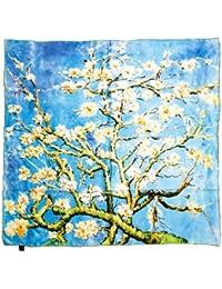 Prettystern - 90cm Seidenschal reine Seide Impressionismus Kunstdruck Malerei Tuch - van Gogh - viele Motive