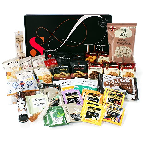 Easter gifts for her amazon tea time gift hamper just treats solar gift box jam packed with the best tea time biscuit favourites great easter gift for him and her boys girls negle Gallery