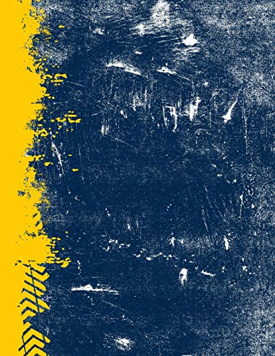 Blue And Maize: (8.5 x 11 Lined) Blank Grunge School Color Notebook College Ruled -