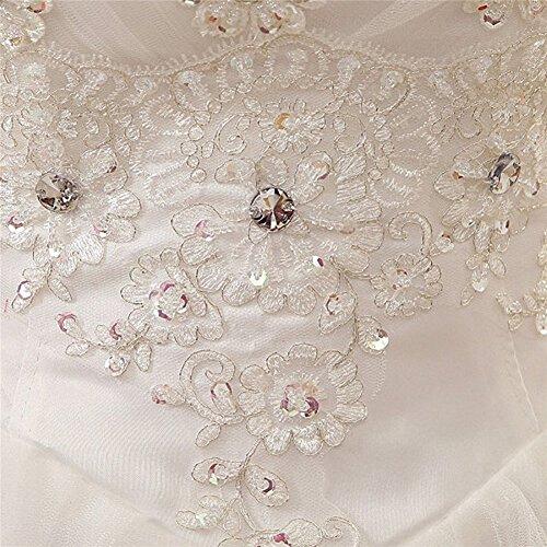 LATH.PIN Sexy Robe de Mariage Robe de soiree Avec Faux Diamand Blanc