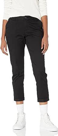 Amazon Essentials - Pantaloni chino a pinocchietto da donna, colore: cachi, 40 (2 US)