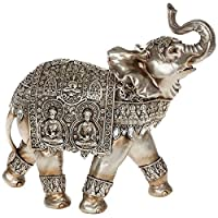 BEAUTIFUL COLLECTABLE SILVER & GOLD BUDDHA ELEPHANT EXTRA LARGE NEW & BOXED