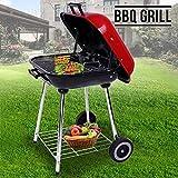 Generic er Wheelsal Troll Garten Outdoor Smoked Food Charcoal Grill Trolley BBQ Powder Wheels Smoked Food Charcoal Tr