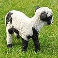 nanook Gartenfigur Schaf Gartendeko Tiere - Handbemalt, Wetterfest, Kunststein - Schwarz Weiß von nanook - Du und dein Garten