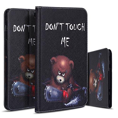 CaseLover Galaxy Tab S2 9.7 Hülle, PU Ledertasche Tablet Schutzhülle Handyhülle für Samsung Tab S2 9.7 SM-T810 T811 T813 T815 T819 Tablet mit Standfunktion und Kartensteckplatz, Berühre Mich Nicht (Batman S2 Case Galaxy)