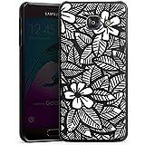Samsung Galaxy A3 (2016) Housse Étui Protection Coque Fleurs Fleurs Feuilles