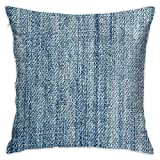 Klotr Federe Cuscino Divano, Jeans Fabric Thread Art Pillowcase - Zippered Pillow Case Cover, Pillow Protector, Best Throw Pillow Cover - Stanrd Size 18x18 inch, Double-Sided Print Pillowcase Covers