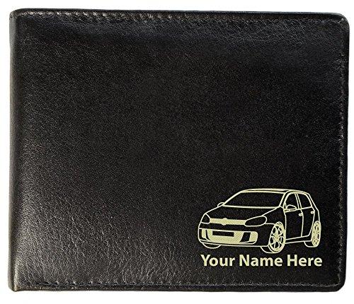 Herren-Brieftasche, aus Leder, Motiv: VW Golf Mk5, personalisierbar, Toscana-Stil -