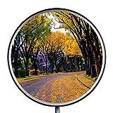 Espejo de Tráfico Espejo de Seguridad Überwachungsspiegel Vigilancia Espejo Panorámico Convexo Policarbonato de Espejo 30 cm