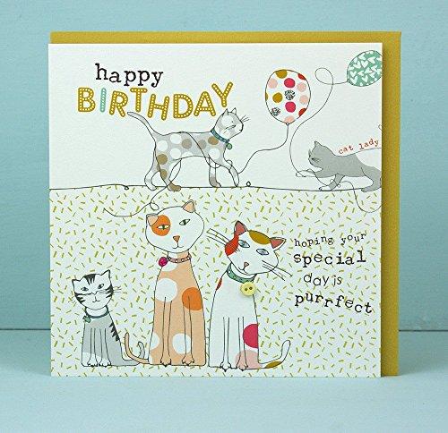 Geburtstagskarte von Molly Mae Designs Cute Cat Design (Molly-design)