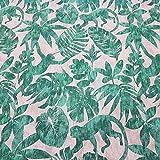 Stoff Meterware Baumwolle grün türkis AFFE Dschungel