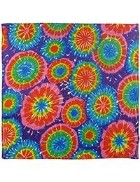 Mens Ladies Psychedelic Psy Colour Burst Tie Dye Bandana Bandanna Trance Goa