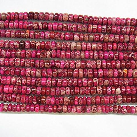 thetastejewelry 6mm Rondelle Red Sea Sediment Jasper Perlen 38,1cm 38cm Halskette Heilung Schmuck herstellen–4528