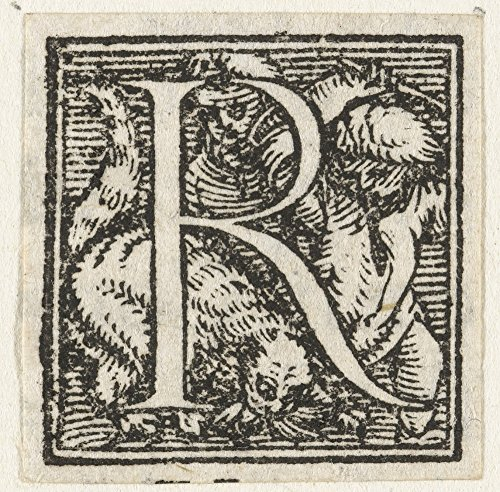 Das Museum Outlet-Buchstabe R mit zwei Kinder Katze Store. 1522-1526, gespannte Leinwand Galerie verpackt. 29,7x 41,9cm