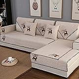 JINGJIE Funda de sofá,Color sólido Simple Moderno Protector para sofás Anti-Que Patina Cuatr...