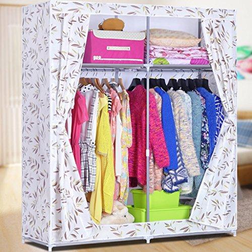 MMM& Simple Assemblée Grande armoire Vêtements Armoire de rangement Tube renforcé Cadre en acier Penderie Armoires (couleur : # 3)