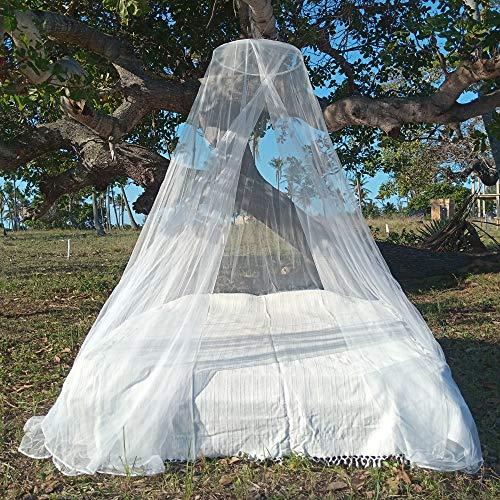 HAWK Outdoors Reise Moskitonetz mit Aufhängungs-Set & Mückenkopfschutz - 240 MESH Travel Mückennetz Baldachin Form - Tropen Mückenschutz Bettnetz