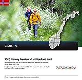 Garmin TOPO Norwegen Premium 8 - Nordland Nord topographische Karte von Nordland Nord - Norwegen