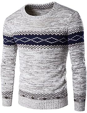 Suéter de Moda Pulóver de Manga Larga para Hombre - Gris S