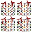 Set Of 4 Cushion Garden Patio Dining Patio Table Chair Seat Cover Pads Plush Padded Filled Pillows (Jungle Forest Owl Bird)