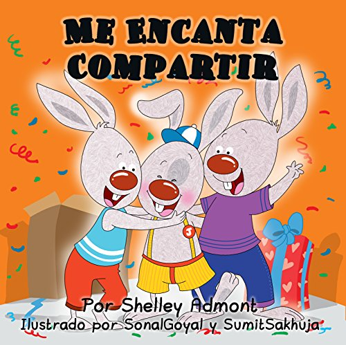 Me Encanta Compartir  (Spanish Bedtime Collection) por Shelley Admont