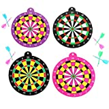 Black Temptation Child Safety Magnetic Dart Board Set Spielzeug-Geschenke 19CM Zufall