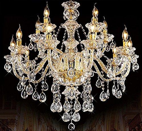 15 Licht-kristall-kronleuchter (Gowe lustres plafonniere modern lustres de cristal Kristall Kronleuchter Wohnzimmer Kronleuchter Kronleuchter 15Lichter Kronleuchter)