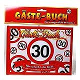 Geburtstag Gästebuch 30 Jahre Verkehrsschild Party Deko Gäste - Buch