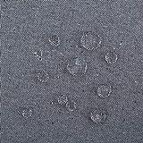 Deconovo Tischdecke Tischwäsche Lotuseffekt Tischtuch 130x280 cm Grau - 4