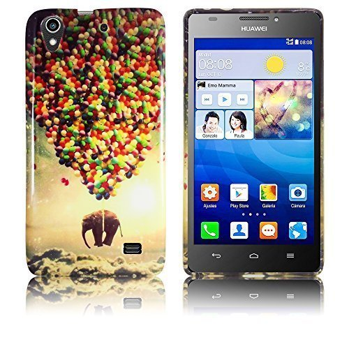 Huawei Ascend G620s Silikon Schutz-Hülle fliegender Elefant weiche Tasche Cover Case Bumper Etui Flip smartphone handy backcover thematys®