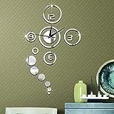 Forepin Horloge Murale Design Vintage Silencieuse DIY Muraux Décoration Amovible...