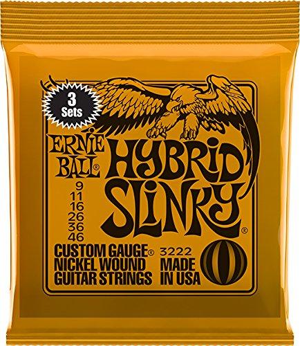 Ernie Ball Hybrid Slinky Nickel Wunde E-Gitarre Saiten 3 Pack - 9-46 Gauge