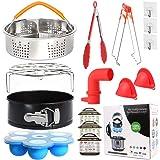 Kit d'accessoires 12 pièces pour Instant Pot 6/8 Qt - Panier vapeur/support à œufs/Egg Bites Moule/Moule à charnière…