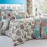 Die besten Gemütliche Beddings Quilts - Dreams 'n' Drapes Bettwäsche-Set mit Kissenbezügen , mehrfarbig Bewertungen